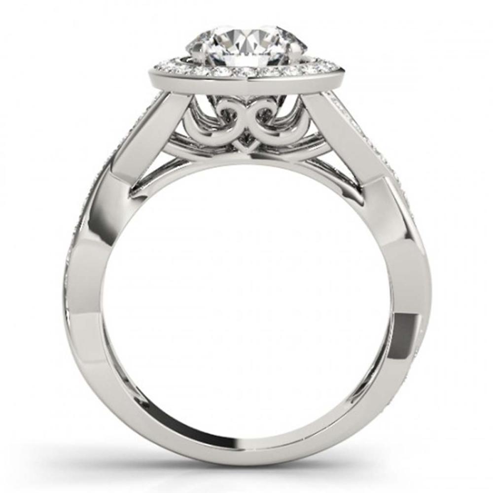 Lot 5189: 2 ctw VS/SI Diamond Halo Ring 18K White Gold - REF-405K8W - SKU:26176