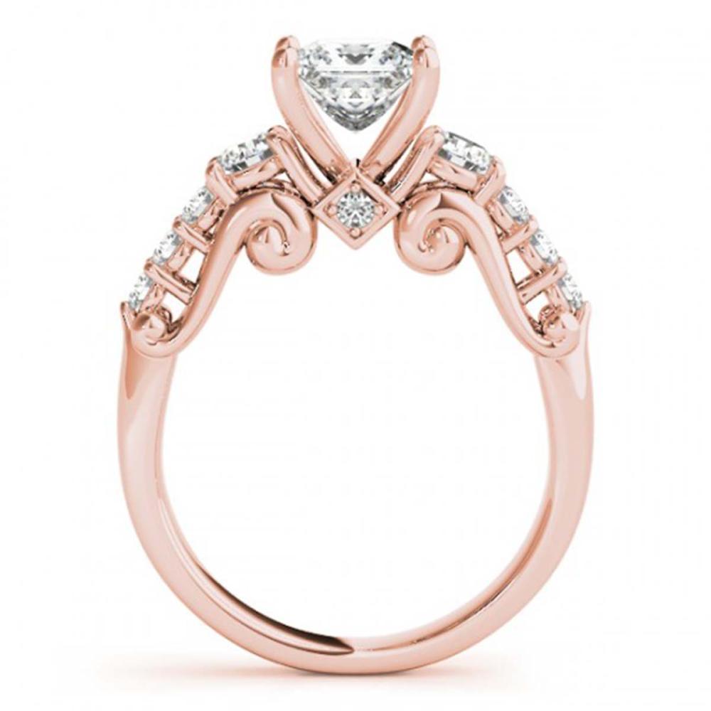 Lot 5190: 1.50 ctw VS/SI Diamond 3 Stone Princess Cut Ring 18K Rose Gold - REF-219V5Y - SKU:27994