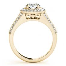 Lot 5193: 1.70 ctw VS/SI Diamond Halo Ring 18K Yellow Gold - REF-312K3W - SKU:26720