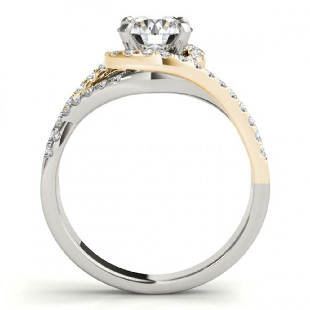 Lot 5194: 1.50 ctw VS/SI Diamond Solitaire Halo Ring 18K White & Yellow Gold - REF-312N7A - SKU:26614