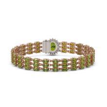 Lot 5079: 26.4 ctw Tourmaline & Diamond Bracelet 14K Rose Gold - REF-248V3Y - SKU:45843