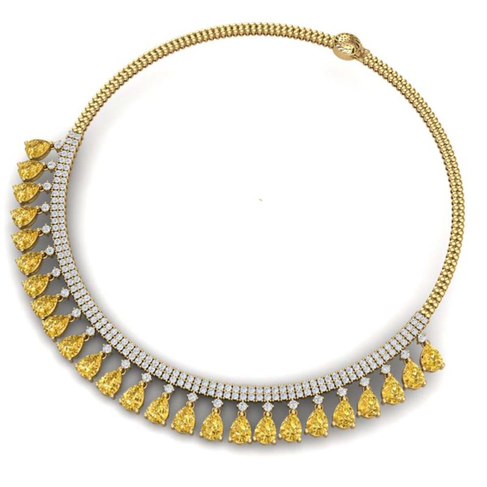 Lot 5106: 39.66 ctw Canary Citrine & VS Diamond Necklace 18K Yellow Gold - REF-854W5H - SKU:38885