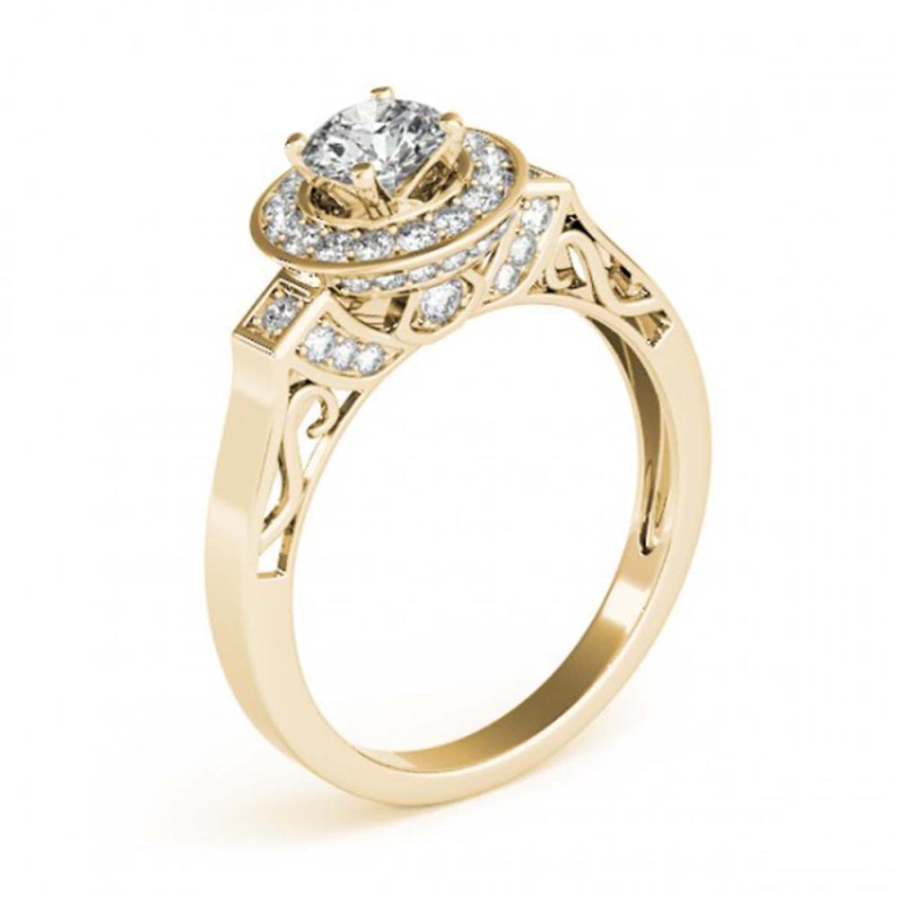 Lot 5118: 1.75 ctw VS/SI Diamond Halo Ring 18K Yellow Gold - REF-388V2Y - SKU:27089