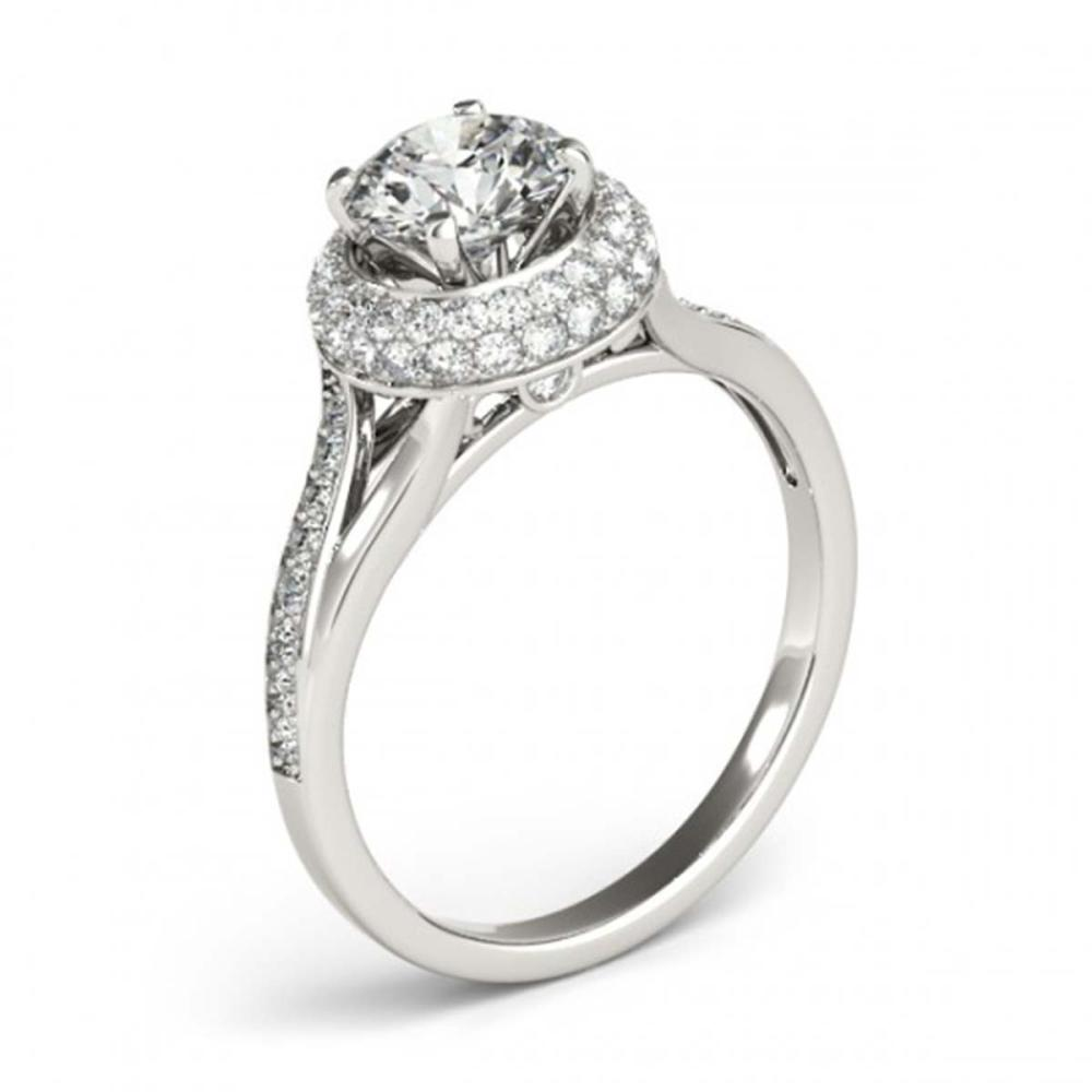 Lot 5171: 1.35 ctw VS/SI Diamond Halo Ring 18K White Gold - REF-162W3H - SKU:26823