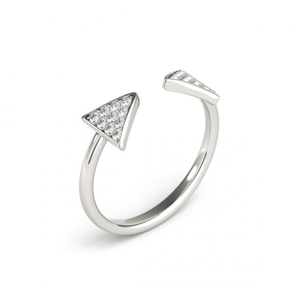 Lot 5197: 0.25 ctw VS/SI Diamond Fashion Ring 18K White Gold - REF-36W7H - SKU:28301