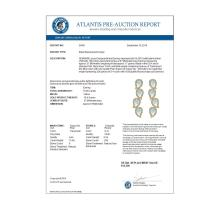 Lot 5036: 15.69 ctw Sky Topaz & VS Diamond Earrings 18K Yellow Gold - REF-281A8V - SKU:39461