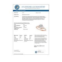 Lot 5075: 1.46 ctw VS/SI Diamond Ring 18K Rose Gold - REF-280F3N - SKU:27574