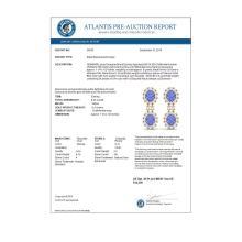 Lot 5103: 8.35 ctw Tanzanite & VS Diamond Earrings 18K Yellow Gold - REF-263A6V - SKU:38819