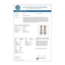 Lot 5112: 10.92 ctw Morganite & Diamond Earrings 14K Rose Gold - REF-290V5Y - SKU:45207