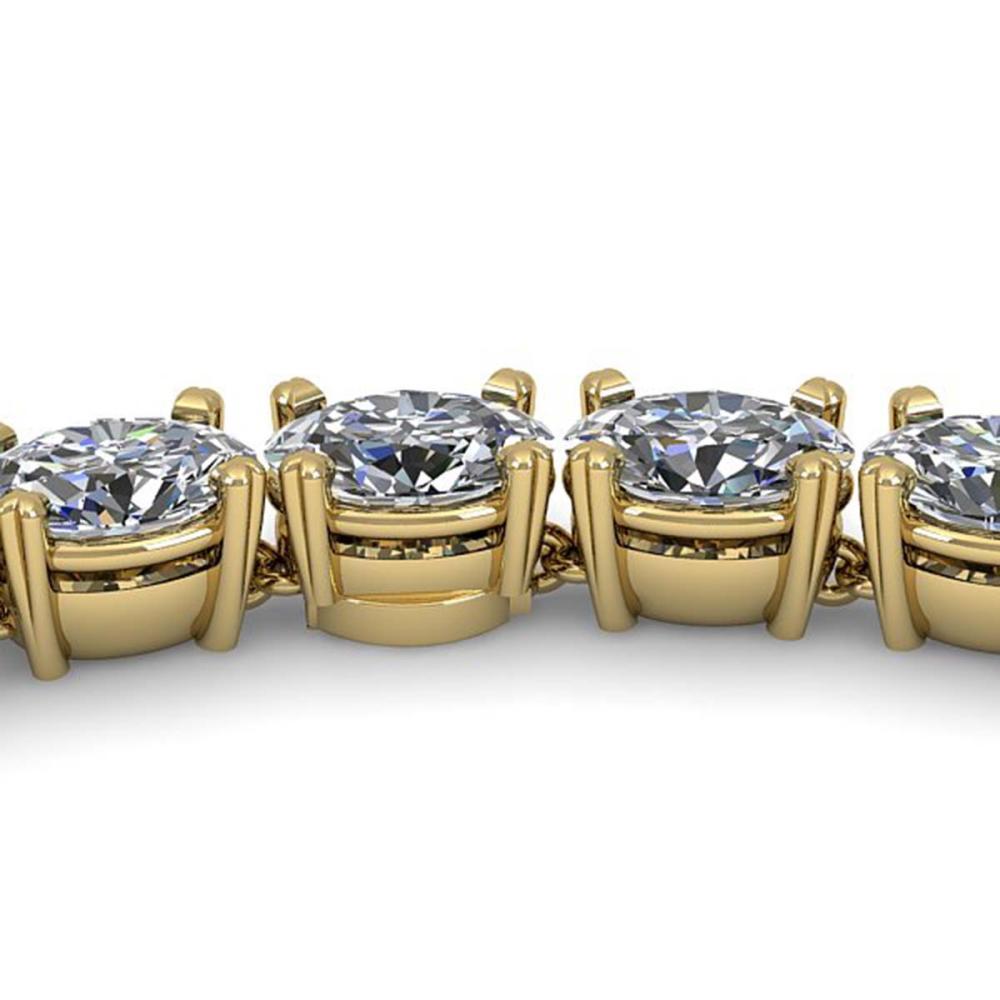 35 ctw Oval SI Diamond Necklace 18K Yellow Gold - REF-5790W2H - SKU:32503