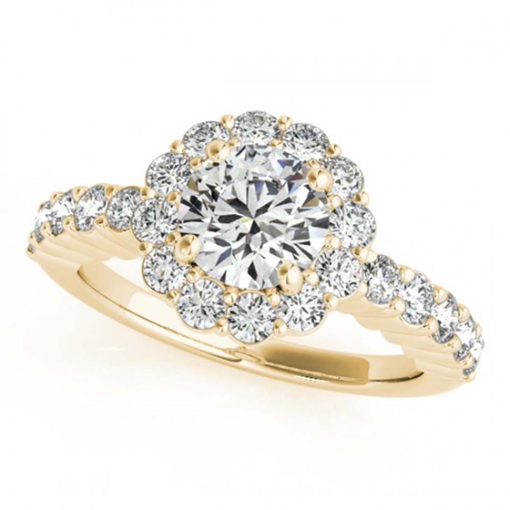 1.75 ctw VS/SI Diamond Halo Ring 18K Yellow Gold - REF-306N3A - SKU:26846