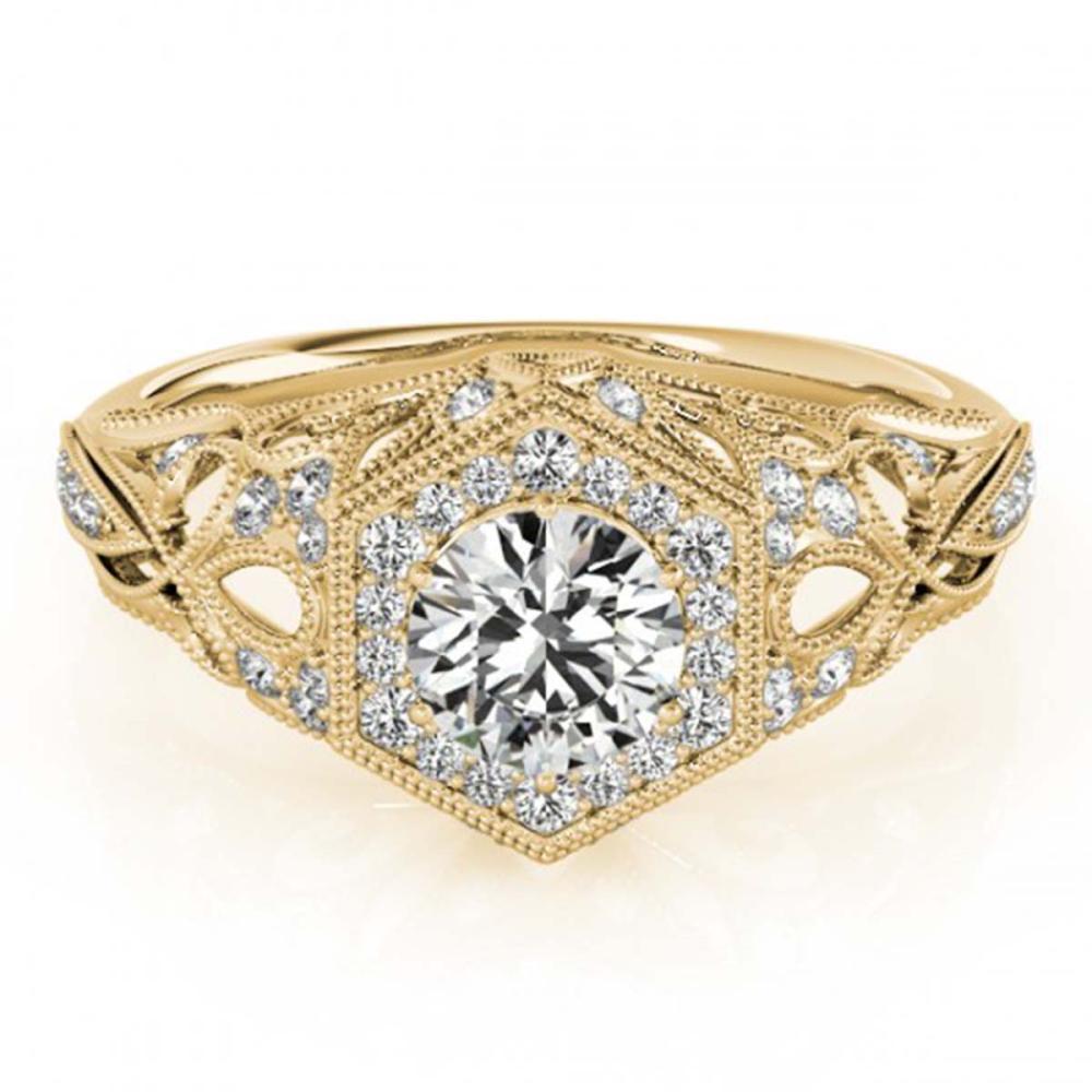 1.40 ctw VS/SI Diamond Halo Ring 18K Yellow Gold - REF-307F5N - SKU:26870