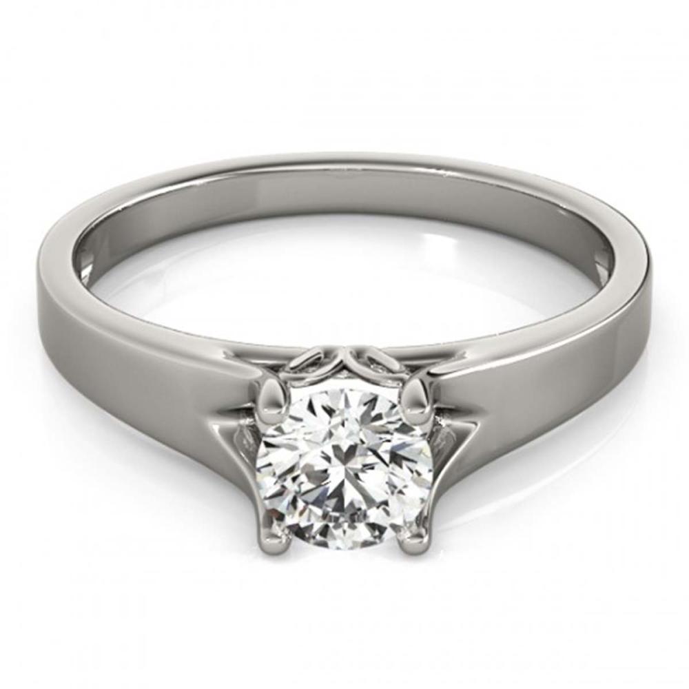 0.75 ctw VS/SI Diamond Ring 18K White Gold - REF-133W6H - SKU:27789
