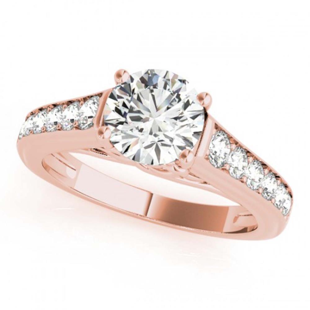 1.25 ctw VS/SI Diamond Ring 18K Rose Gold - REF-164V3Y - SKU:27505