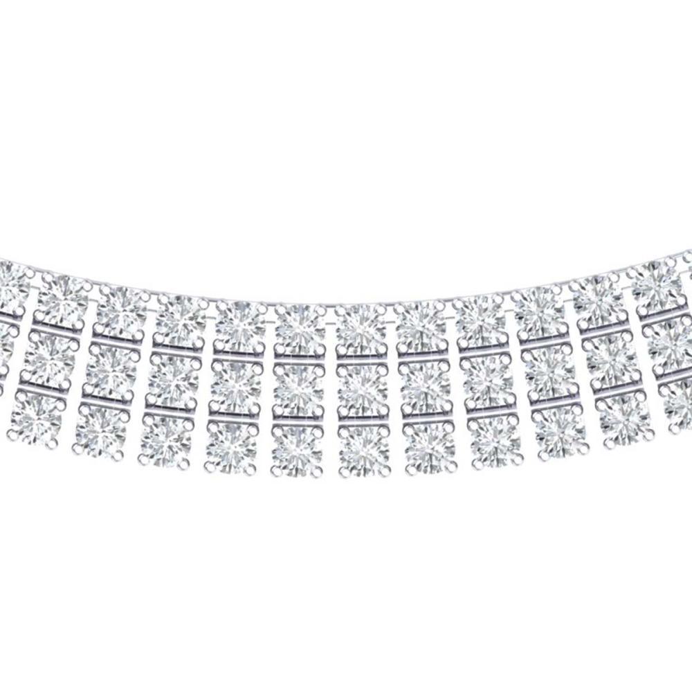 30 ctw SI/I Diamond Necklace 18K White Gold - REF-1845H2M - SKU:39944
