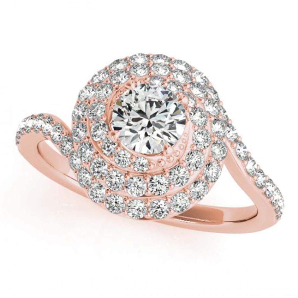 1.33 ctw VS/SI Diamond Halo Ring 18K Rose Gold - REF-117V5Y - SKU:27046