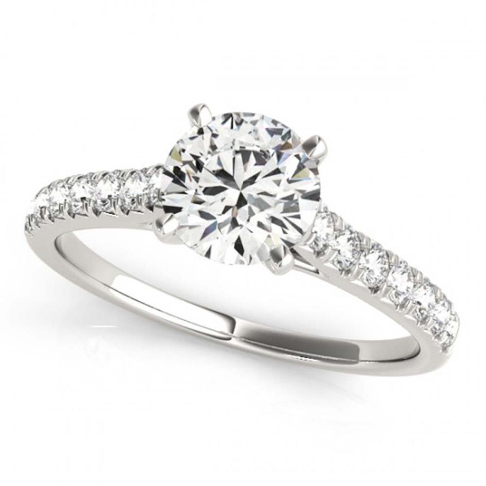 1.45 ctw VS/SI Diamond Ring 18K White Gold - REF-280H5M - SKU:27591