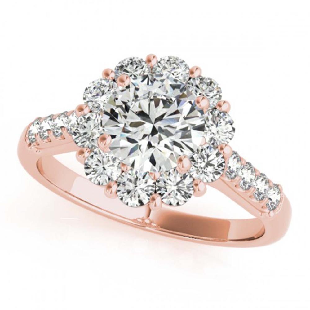 2.75 ctw VS/SI Diamond Halo Ring 18K Rose Gold - REF-545A3V - SKU:26291