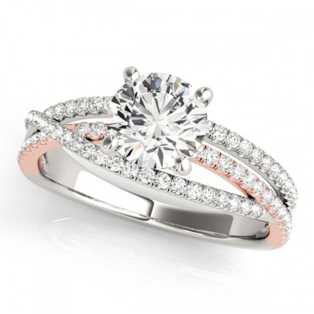 1.40 ctw VS/SI Diamond Solitaire Ring 18K White & Rose Gold - REF-296W2H - SKU:28166