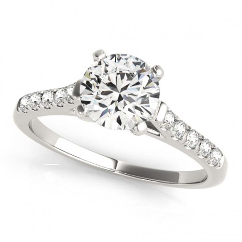 0.97 ctw VS/SI Diamond Ring 18K White Gold - REF-140W4H - SKU:27579