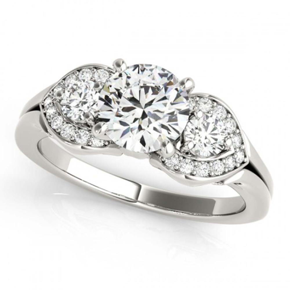 1.20 ctw VS/SI Diamond 3 Stone Ring 18K White Gold - REF-174H5M - SKU:27981