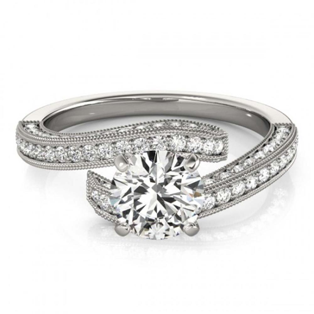 1.50 ctw VS/SI Diamond Bypass Ring 18K White Gold - REF-171W3H - SKU:27771