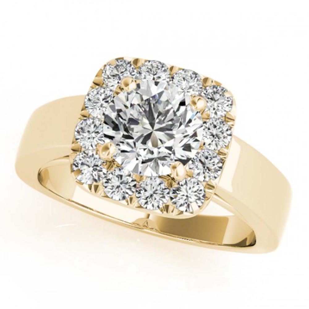 1.55 ctw VS/SI Diamond Halo Ring 18K Yellow Gold - REF-325H2M - SKU:26900