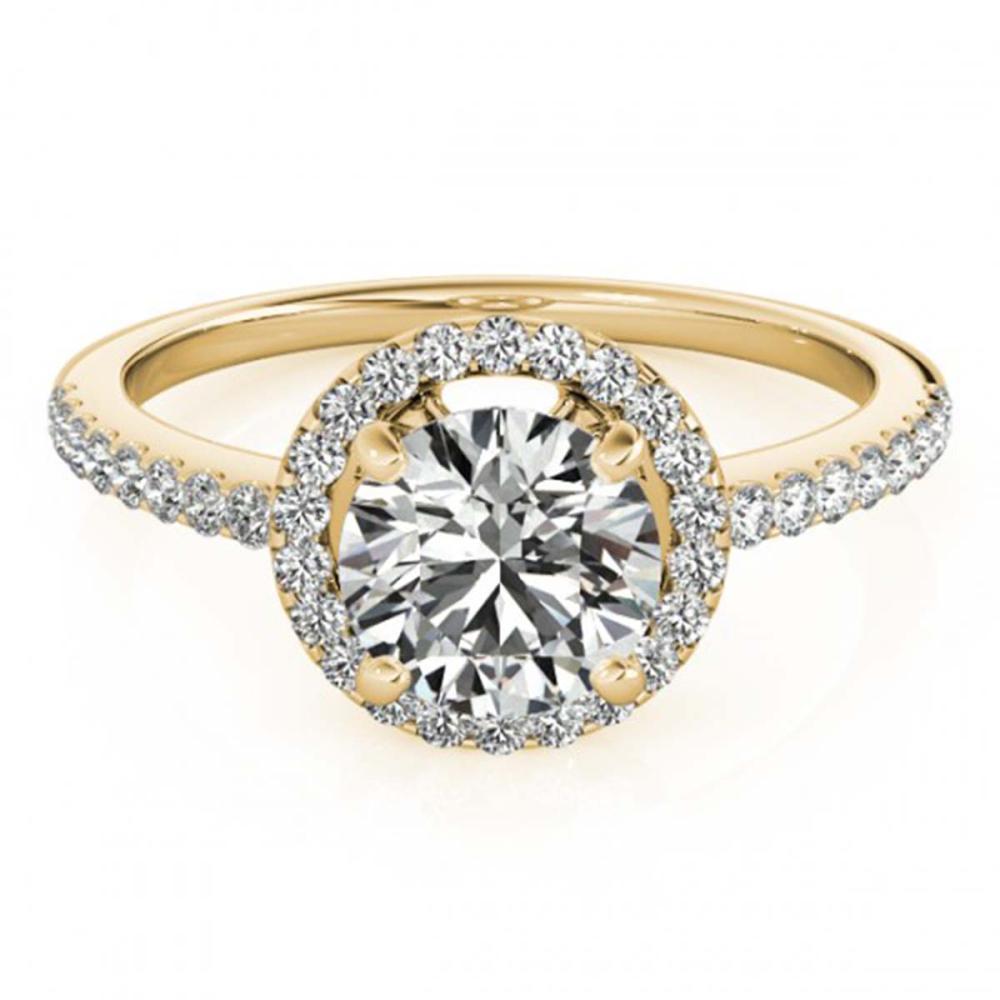 1.15 ctw VS/SI Diamond Halo Ring 18K Yellow Gold - REF-154Y5X - SKU:26816