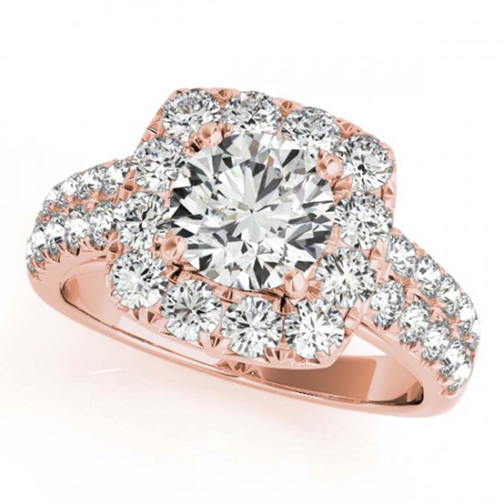 2.5 ctw VS/SI Diamond Halo Ring 18K Rose Gold - REF-436R2K - SKU:26447