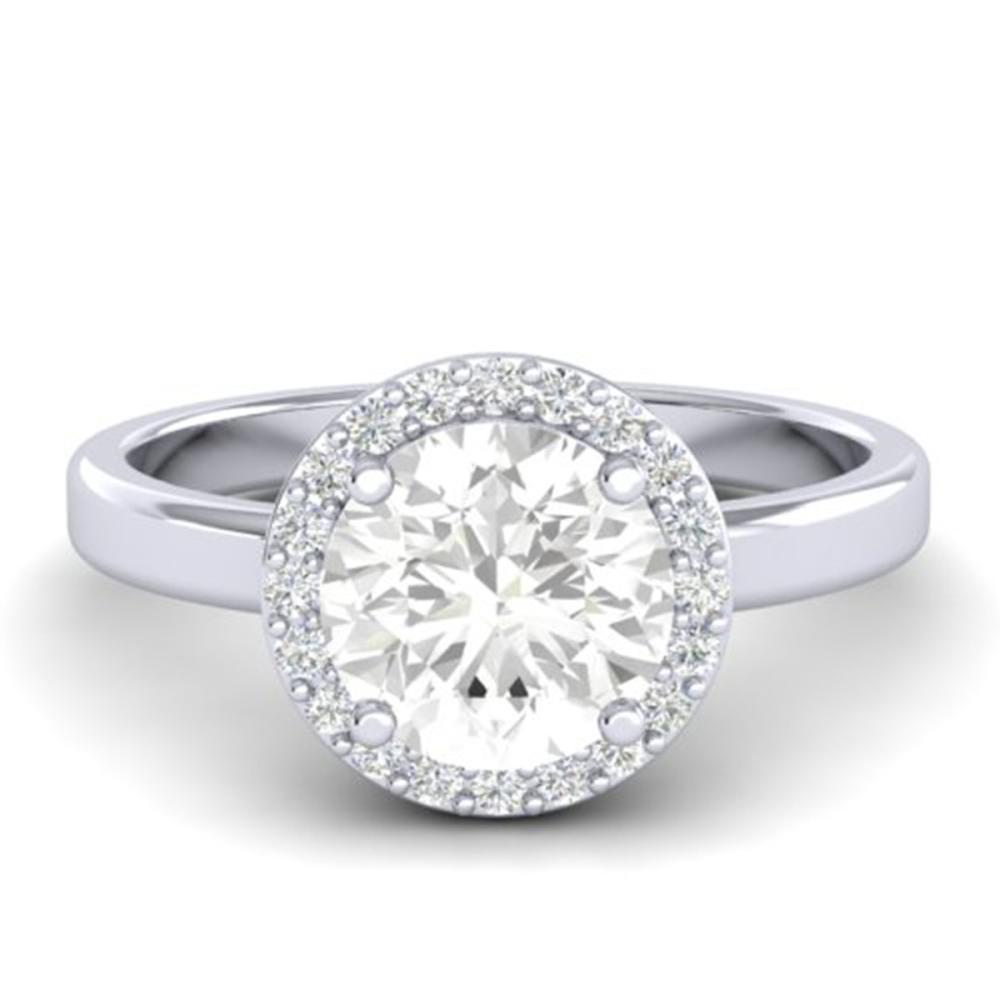 1.75 ctw VS/SI Diamond Ring Bridal 18K White Gold - REF-538H5M - SKU:21639