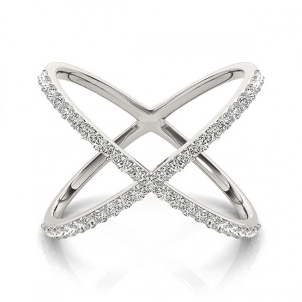 0.55 ctw VS/SI Diamond Fashion Ring 18K White Gold - REF-60N8A - SKU:28260