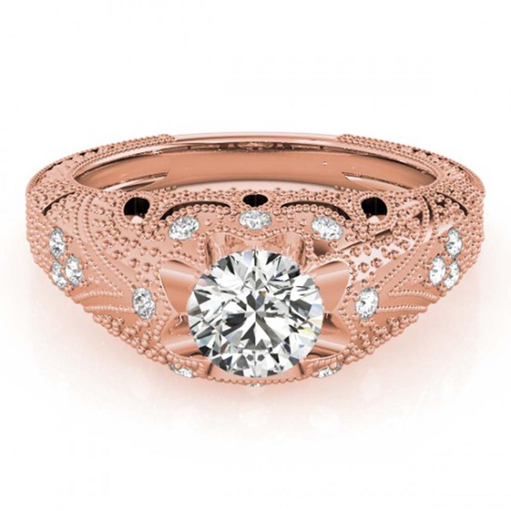 0.97 ctw VS/SI Diamond Ring 18K Rose Gold - REF-169Y5X - SKU:27265