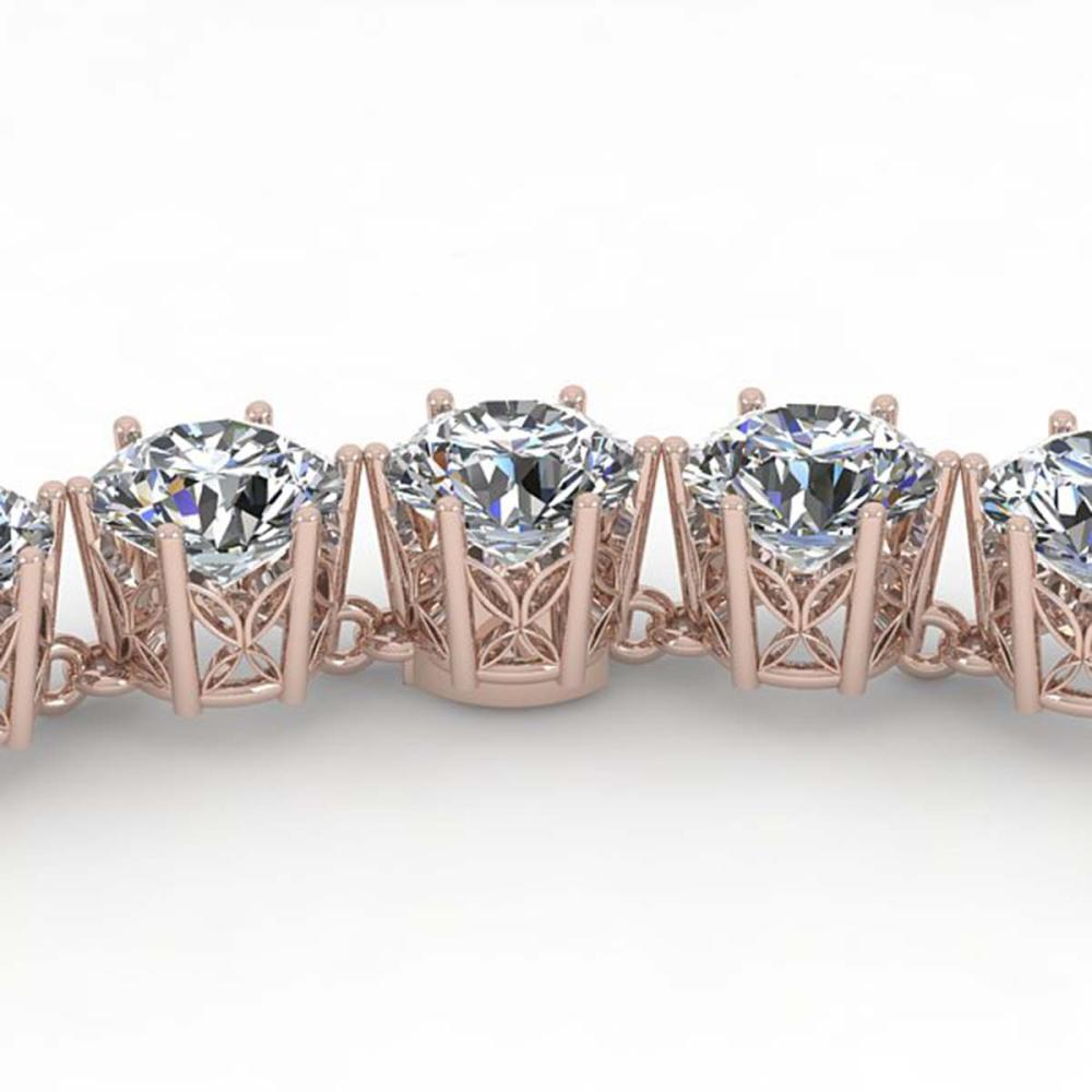 33 ctw SI Diamond Necklace 18K Rose Gold - REF-5280F2N - SKU:35924