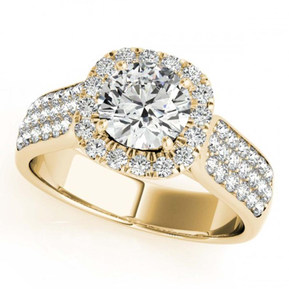 1.80 ctw VS/SI Diamond Halo Ring 18K Yellow Gold - REF-326W6H - SKU:26792