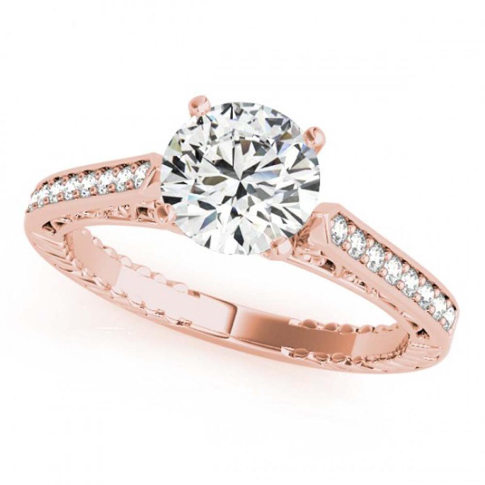 0.50 ctw VS/SI Diamond Ring 18K Rose Gold - REF-60W5H - SKU:27367
