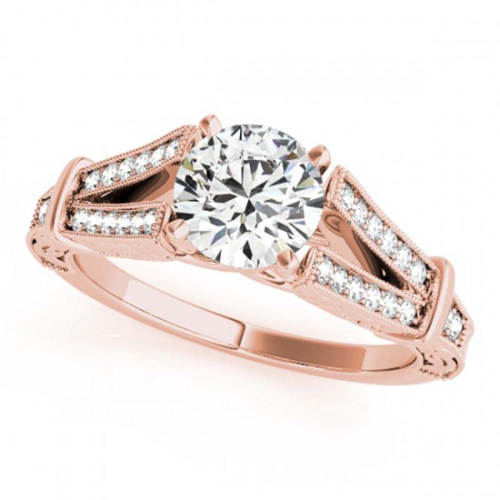 0.75 ctw VS/SI Diamond Ring 18K Rose Gold - REF-113H2M - SKU:27289