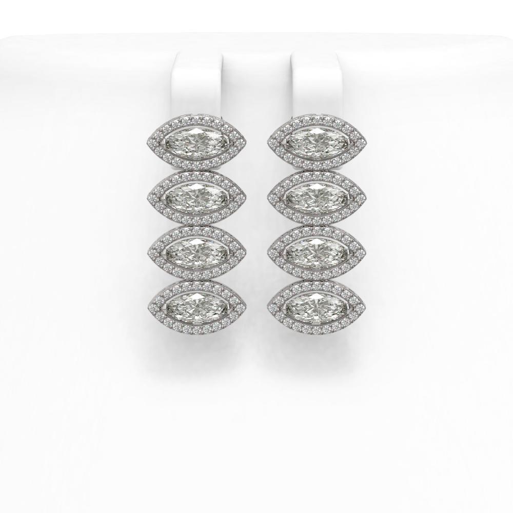5.92 ctw Marquise Diamond Earrings 18K White Gold - REF-804R5K - SKU:42836