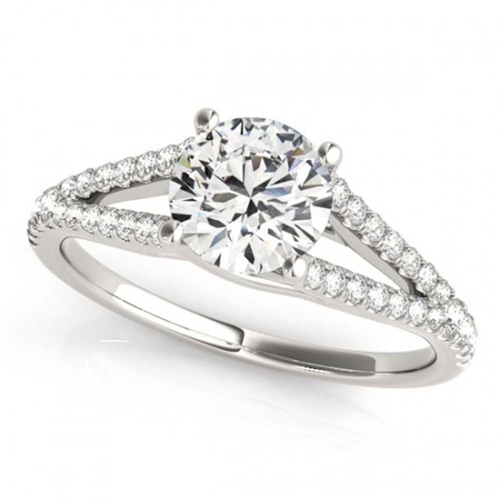 1 ctw VS/SI Diamond Ring 18K White Gold - REF-143N7A - SKU:27951