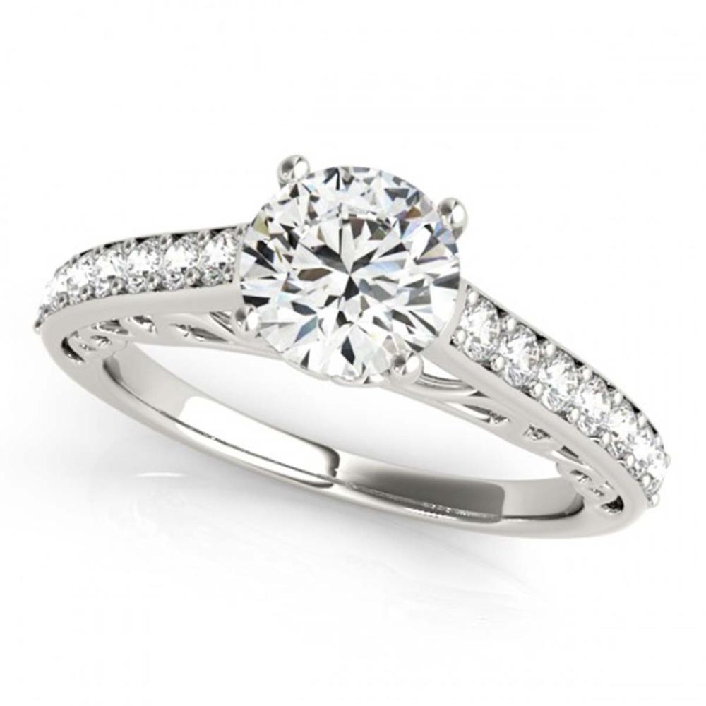 1.15 ctw VS/SI Diamond Ring 18K White Gold - REF-135V2Y - SKU:27645