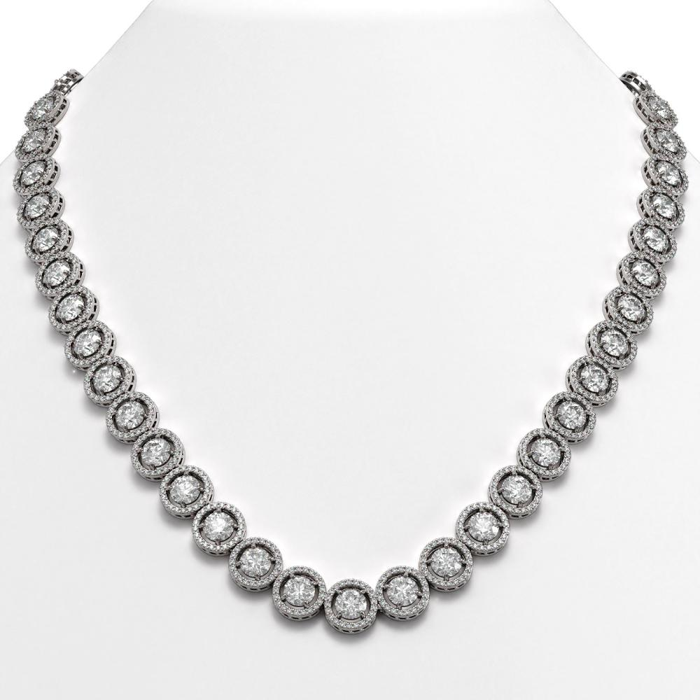 35.32 ctw Diamond Necklace 18K White Gold - REF-4132M4F - SKU:42668