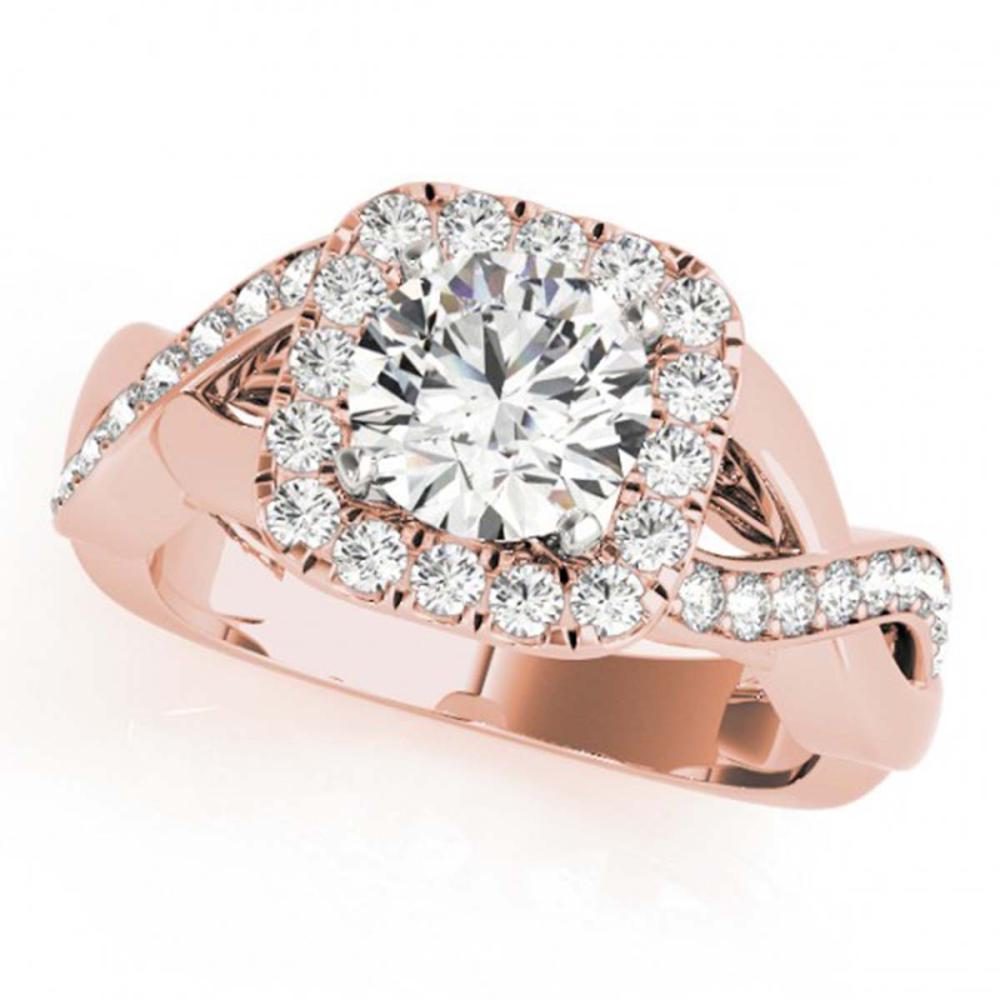 2 ctw VS/SI Diamond Halo Ring 18K Rose Gold - REF-411R2K - SKU:26195