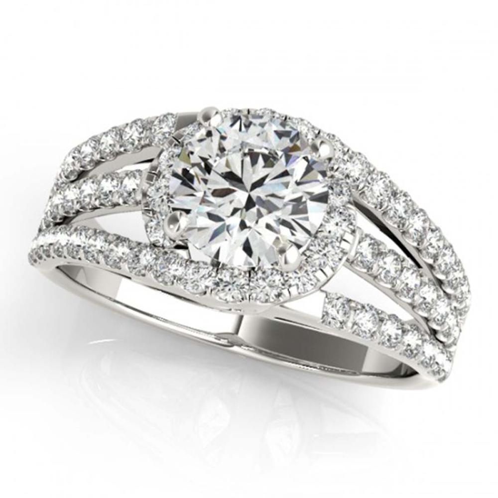 1 ctw VS/SI Diamond Ring 18K White Gold - REF-114H2M - SKU:27975