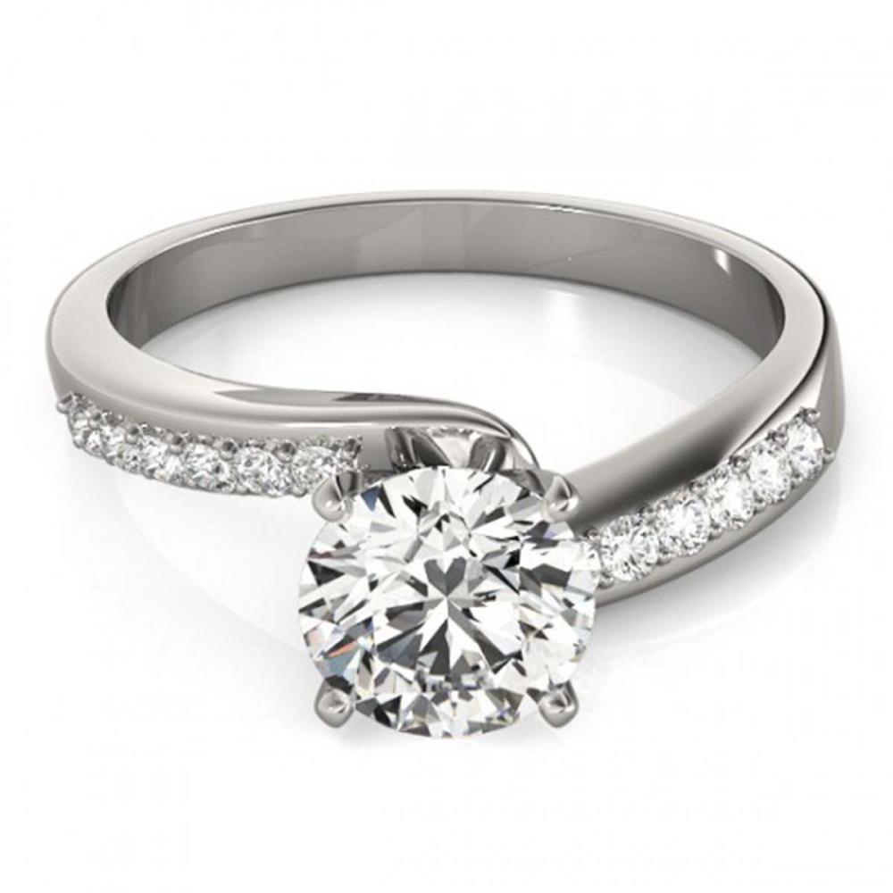 1.40 ctw VS/SI Diamond Bypass Ring 18K White Gold - REF-394F3N - SKU:27681