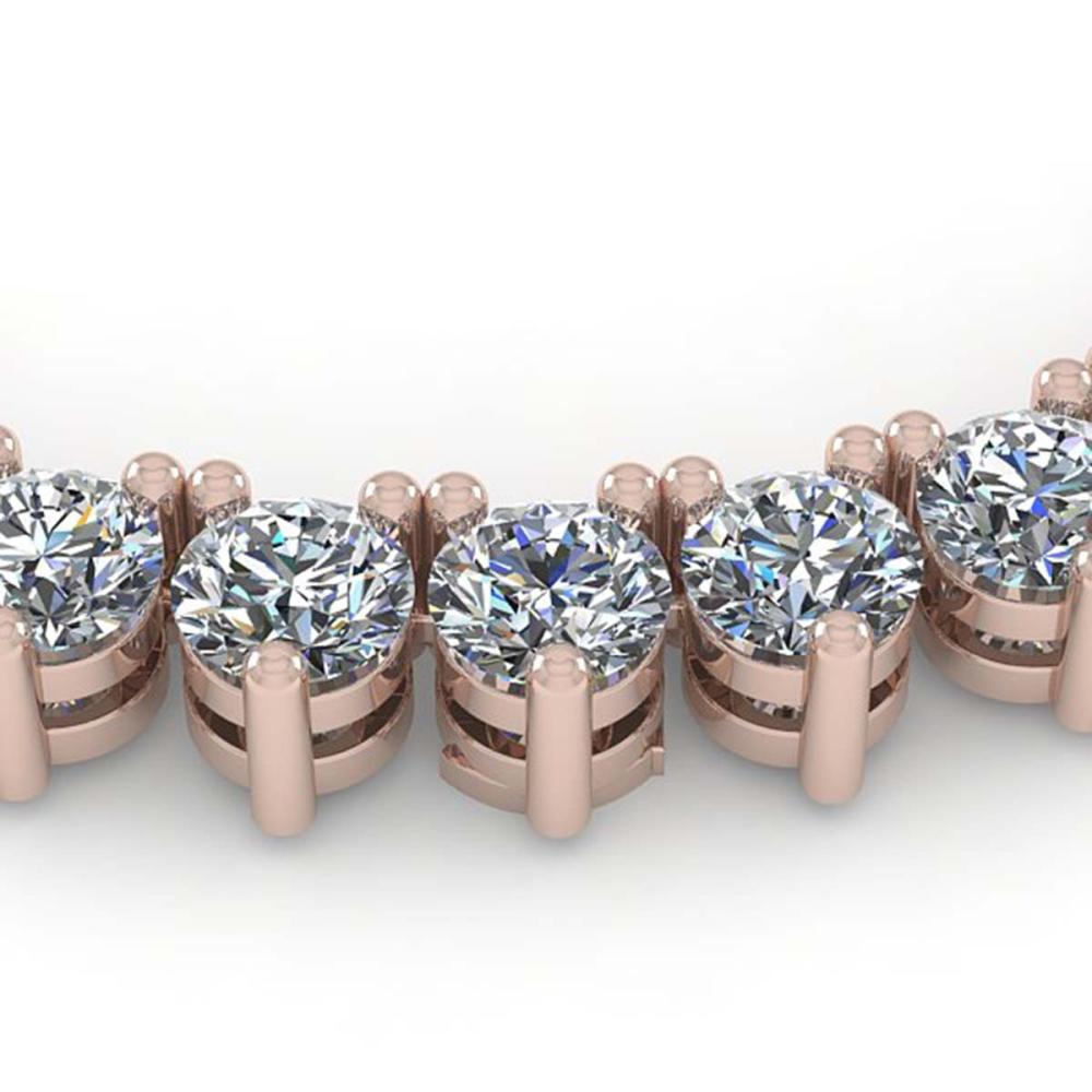 38 ctw 3 Prong SI Diamond Necklace 14K Rose Gold - REF-5400M2F - SKU:35633