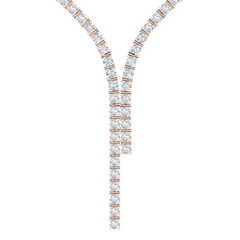 15 ctw SI/I Diamond Necklace 18K Rose Gold - REF-1185V2Y - SKU:39933