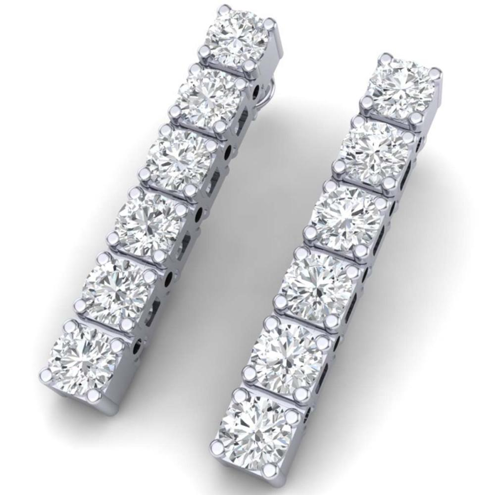 6 ctw SI Diamond Earrings 18K White Gold - REF-660N2A - SKU:39920