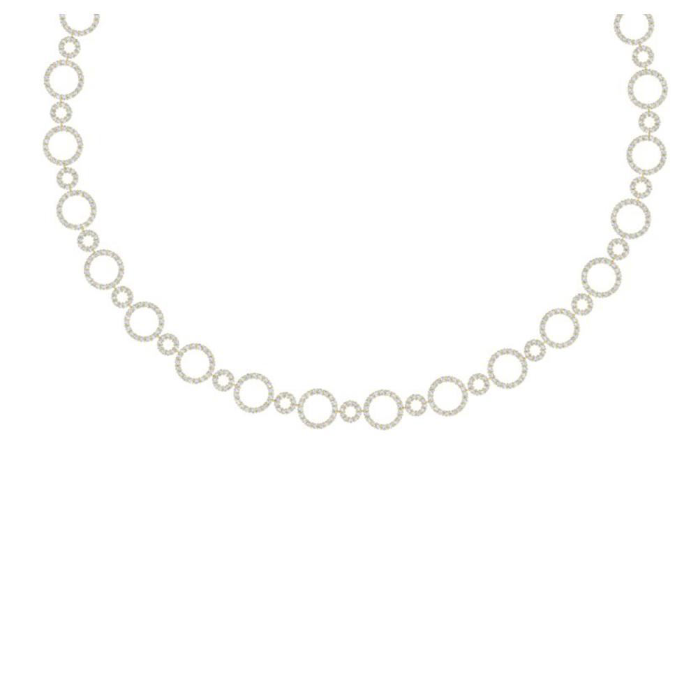 10 ctw SI/I Diamond Halo Necklace 18K Yellow Gold - REF-690K2W - SKU:40180