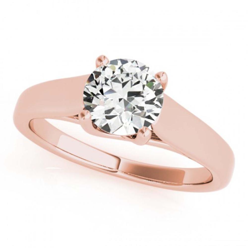 0.75 ctw VS/SI Diamond Ring 18K Rose Gold - REF-136R3K - SKU:28150