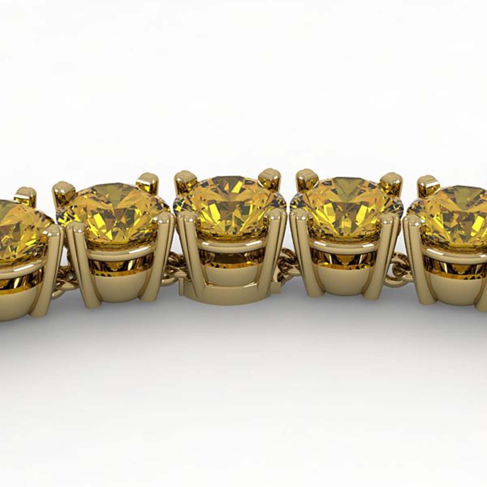 36 ctw Fancy Yellow SI/I Diamond Necklace 18K Yellow Gold - REF-5850K2W - SKU:32494