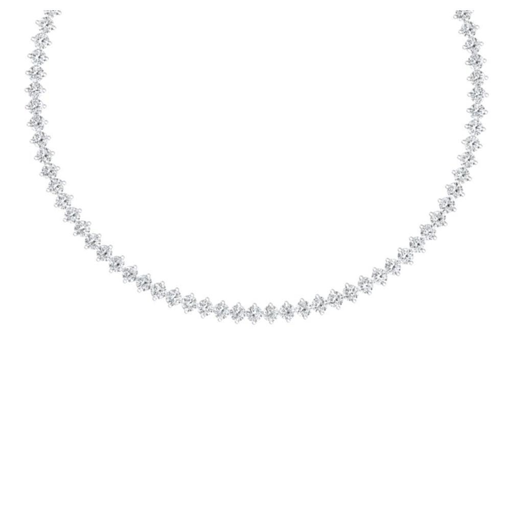 30 ctw VS/SI Diamond Necklace 18K White Gold - REF-2385W2H - SKU:40010